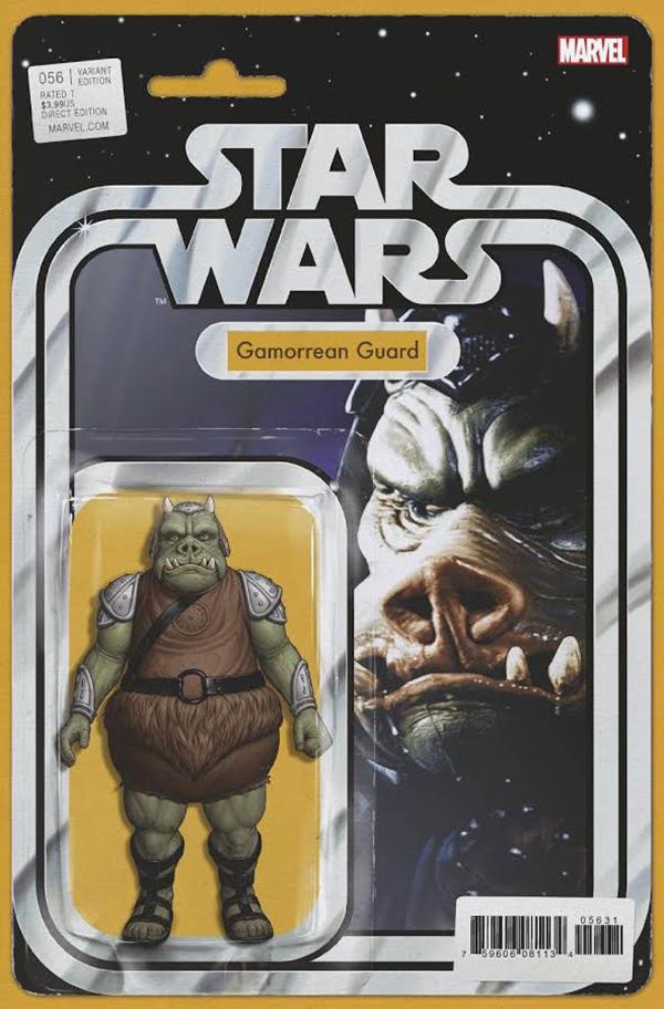 2015 Marvel Comics Star Wars #4 Boba Fett Action Figure Variant Cover JTC